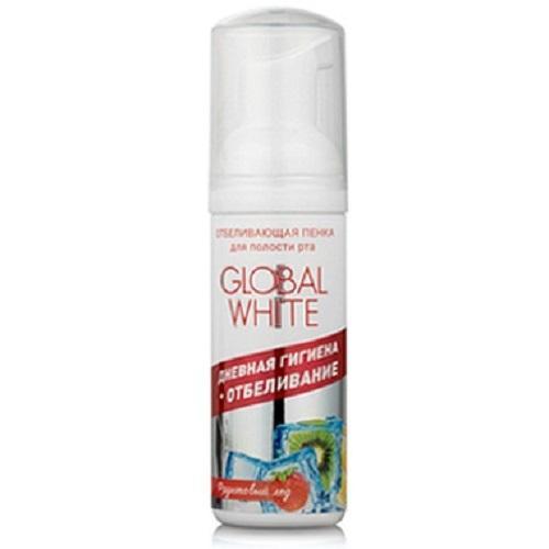 Отбеливающая пенка для полости рта, со вкусом фруктовый лед 50 мл (Global white, Спреи и пенки)