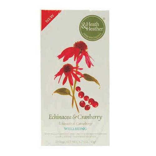 Фруктово-травяной напиток Эхинацея и клюква, 20 пакетиков (Wellbeing) (HeathHeather)