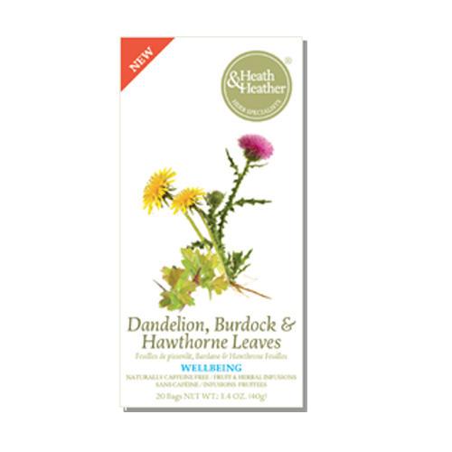 HeathОдуванчик, Лопух и листья Боярышника, 20 пакетиков (Wellbeing)
