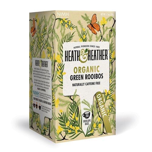 HeathHeather Напиток травяной Зеленый ройбуш  Органик 20 пак. (Antioxidance)