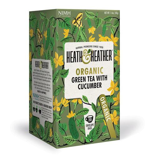 цена Чай Зеленый с огурцом Органик 20 пак. (HeathHeather, Green Tea)