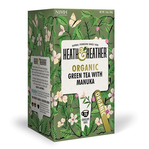 HeathHeather Чай Зеленый с медом манука Органик 20 пак. (Green Tea)