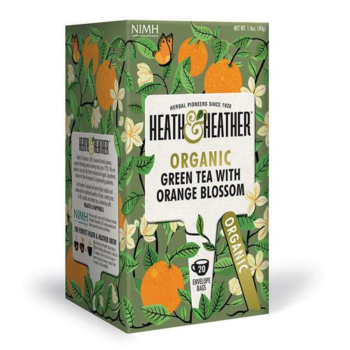 HeathHeather Чай Зеленый со вкусом апельсина Органик 20 пак. (Green Tea)