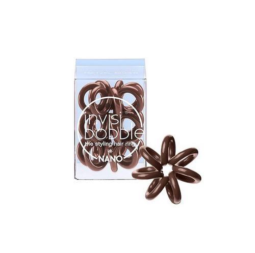 все цены на Резинка для волос Pretzel Brown (с подвесом) коричневый 3 шт. (Invisibobble, Nano) онлайн