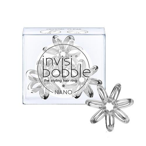 Резинка для волос Crystal Clear (с подвесом) прозрачный 3 шт. (Invisibobble, Nano) резинка для волос nano pretzel brown коричневый в упаковке с подвесом 3 шт