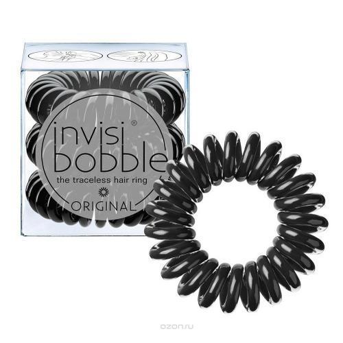 Купить Invisibobble Резинка-браслет для волос True Black (с подвесом) черный 3 шт. (Invisibobble, Power), Великобритания