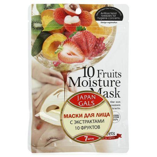 Курс натуральных масок для лица с фруктовыми экстрактами 30 шт (Japan Gals) маскаева ю маски для лица из натуральных ингредиентов
