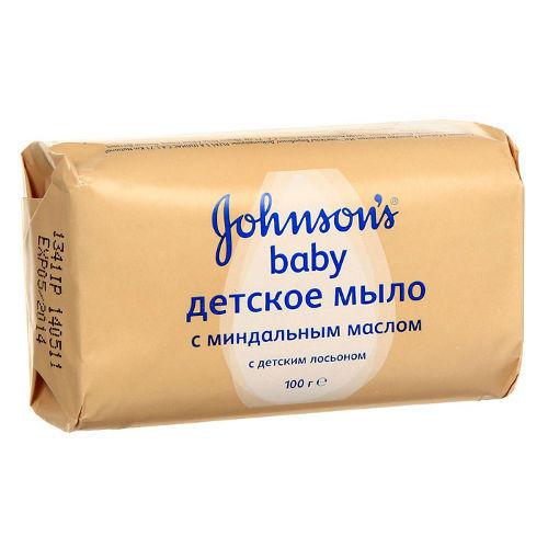 Мыло с экстрактом миндального масла 100 г (Для новорожденных) (Johnson's baby)