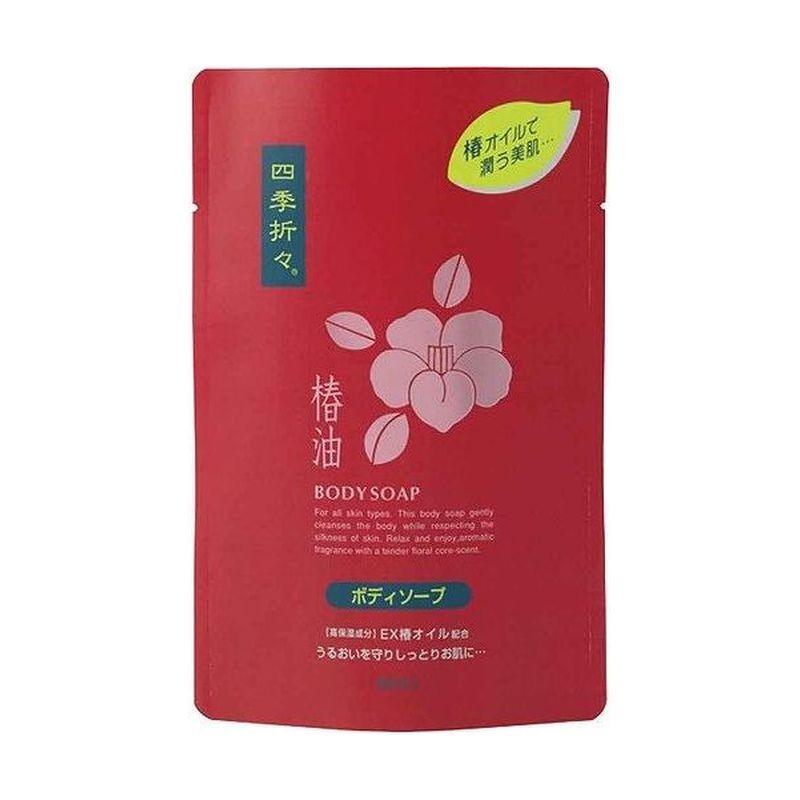 Kumano cosmetics Жидкое мыло д/тела Камелия, SHIKI-ORIORI с/б 450мл (Kumano cosmetics, Жидкое мыло для тела)