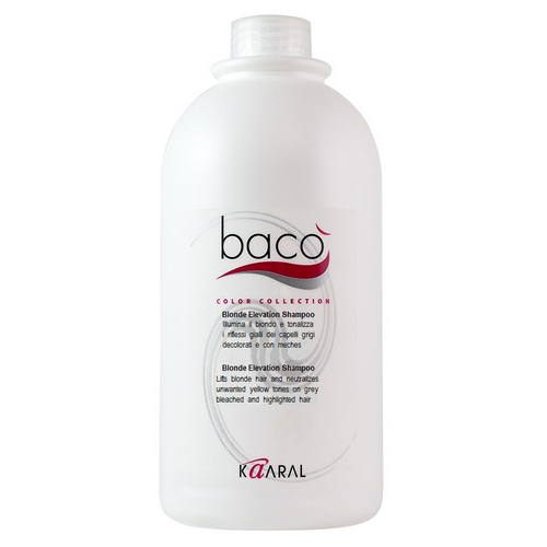 Купить Kaaral Шампунь, придающий блеск волосам и тонирующий седые волосы Blonde elevation shampoo, 1000 мл (Kaaral, Baco), Италия