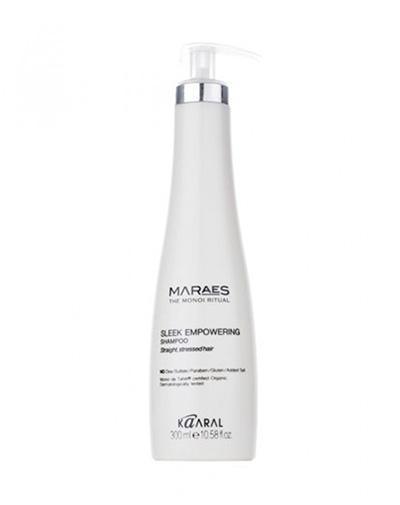 Восстанавливающий шампунь для прямых поврежденных волос 300 мл (Kaaral, Maraes) kaaral восстанавливающий несмываемый спрей для прямых поврежденных волос maraes sleek empowering spray treatment 150 мл
