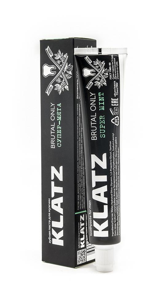 Купить Klatz Зубная паста для мужчин Супер-мята 75 мл (Klatz, Brutal only), Россия