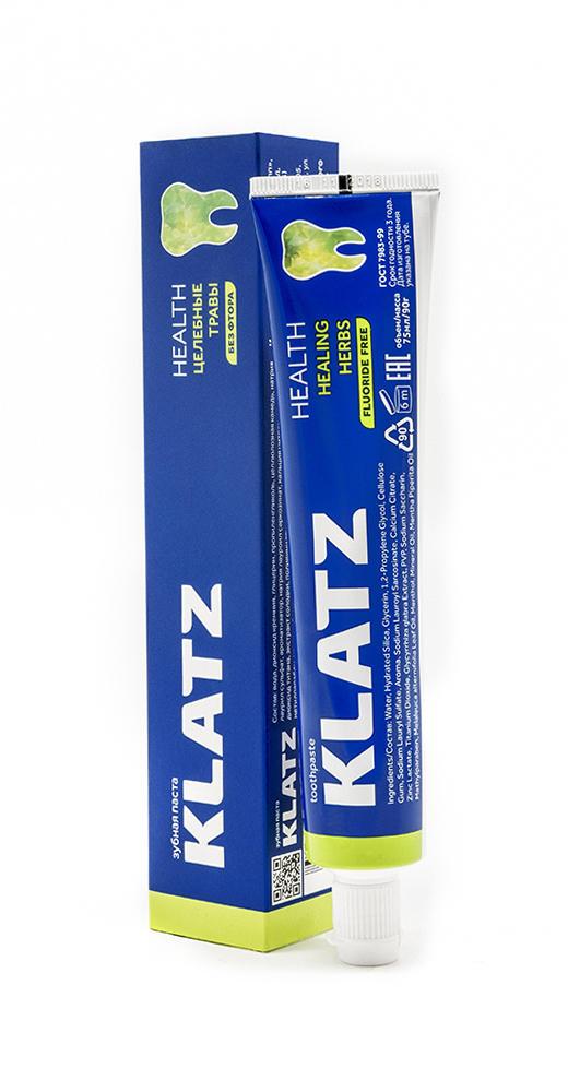 Купить со скидкой Klatz Зубная паста Целебные травы без фтора 75 мл (Klatz, Health)