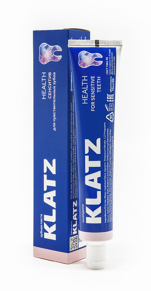 Купить Klatz Зубная паста Сенситив 75 мл (Klatz, Health), Россия