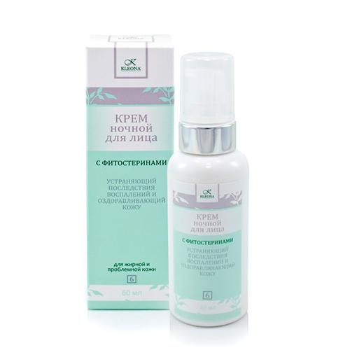 Kleona Крем для лица ночной с фитостеринами № 6, 60 мл (Kleona, Для проблемной кожи)
