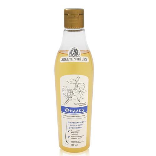 Шампунь Фиалка, для смешанного типа волос, 250 мл (Kleona, Монастырский сбор) шампунь хмель для нормальных сухих волос 250 мл kleona монастырский сбор