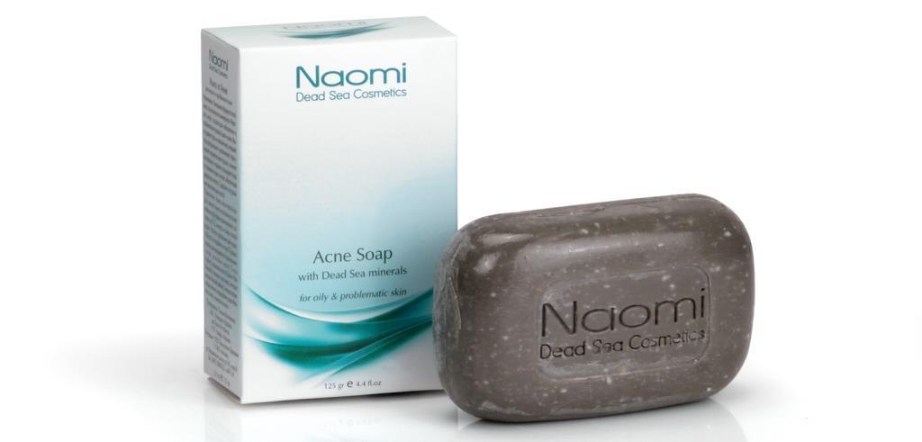 Naomi Мыло против акне с минералами Мертвого моря «NAOMI» 125 г (Naomi, Уход за телом) мыло путешествие в марокко naomi