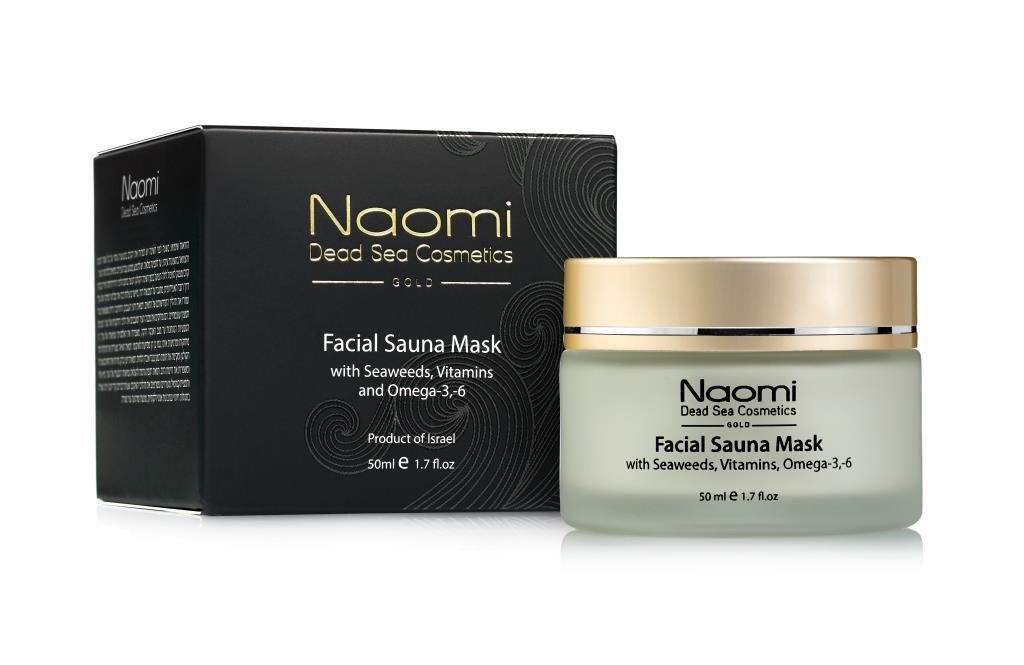 Naomi Маска для лица с эффектом сауны с морскими водорослями, витаминами и Омега-3,-6,  50мл (Naomi, Уход за лицом)