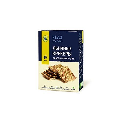Льняные крекеры Классические, с овсяными отрубями 150 г (Компас здоровья, Правильное питание) семеня льна компас здоровья 200 г
