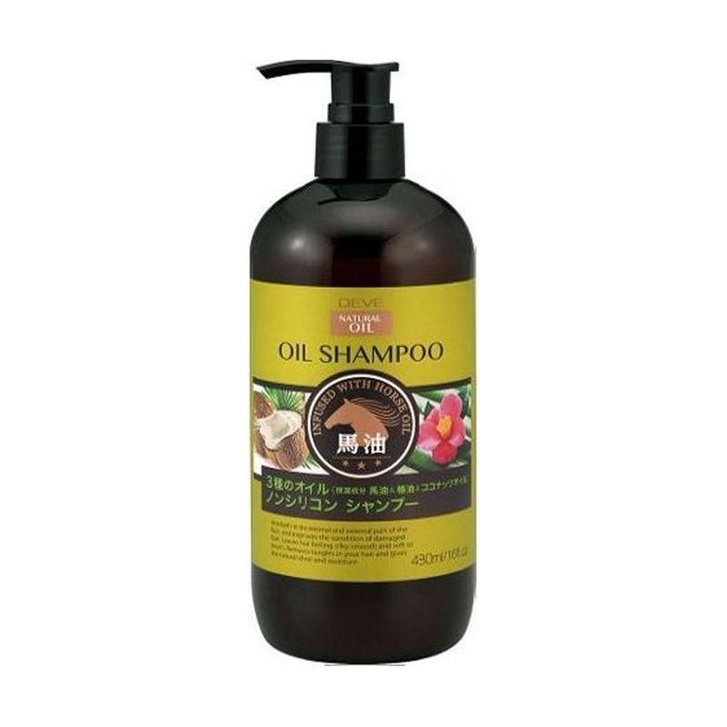 Kumano cosmetics Шампунь д/сухих волос с 3 видами масел (лошадиное, кокосовое и масло камелии) Deve 480мл (Kumano cosmetics, Шампуни для волос)