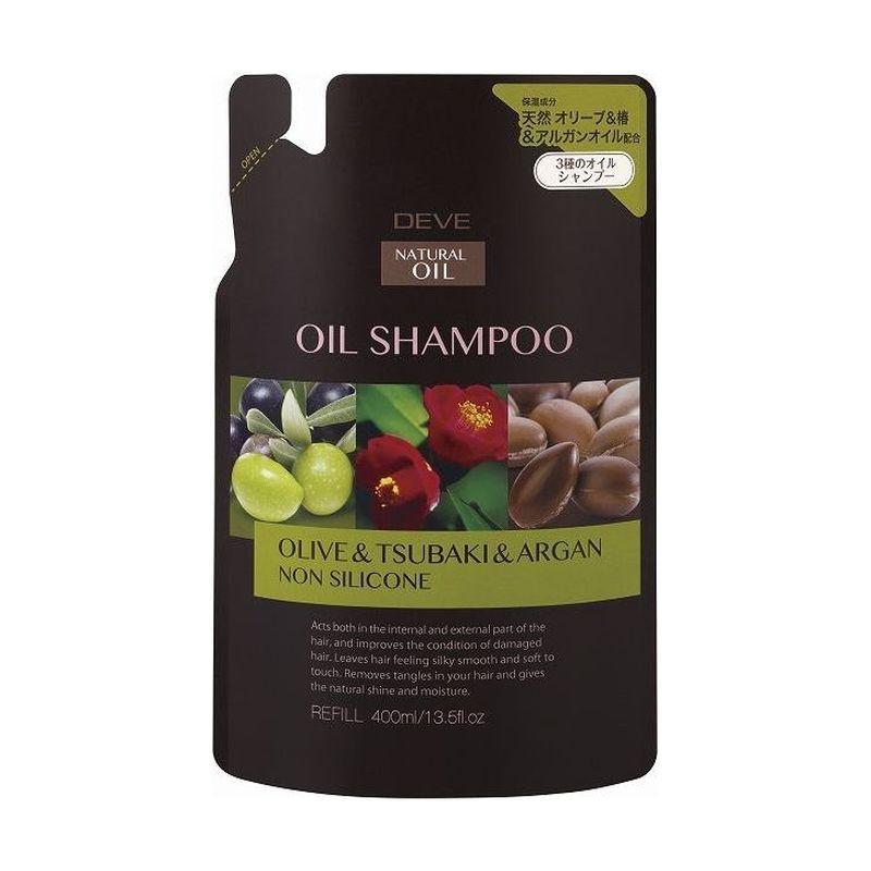 Kumano cosmetics Шампунь д/сухих волос с 3 видами масел (оливковое, камелии и масло арганы) Deve 400мл зап (Kumano cosmetics, Шампуни для волос)