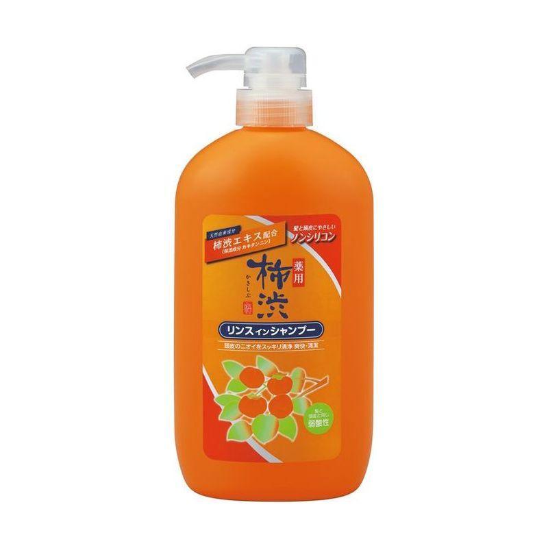 Купить Kumano Cosmetics Шампунь-кондиционер 2в1 против перхоти с экстрактами хурмы и лекарственных трав Kakishibu600 мл (Kumano Cosmetics, Шампуни для волос), Япония