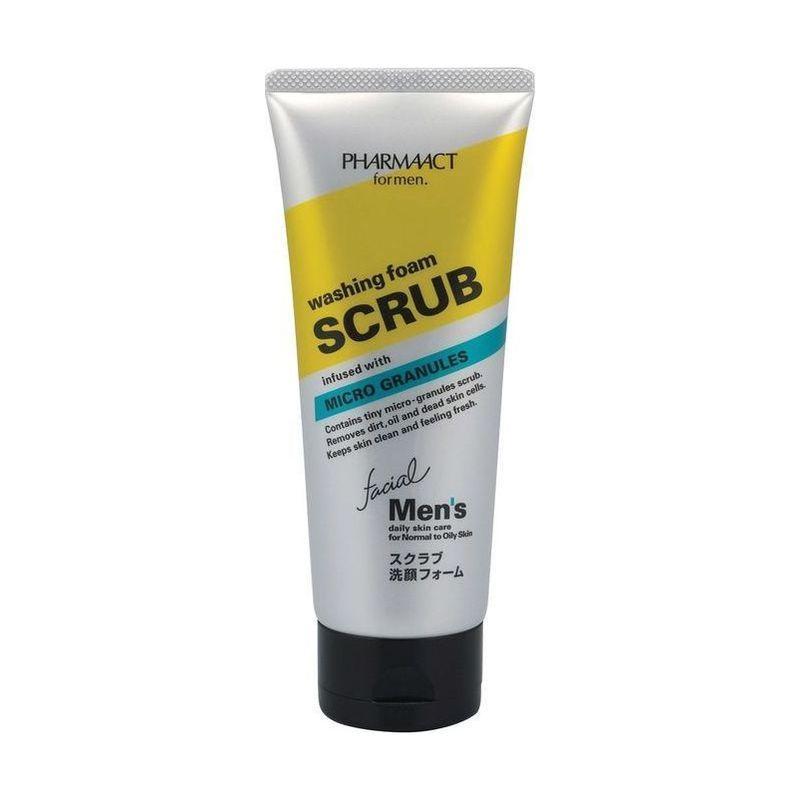 Пенкаскраб для мужчин, Pharmaact, 130 гр. (Kumano cosmetics, Косметика для умывания) аптечная косметика для жирной кожи