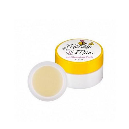 Маска для губ ночная Honey Milk 6,7 г (Apieu, Для губ) шелушение кожи вокруг губ