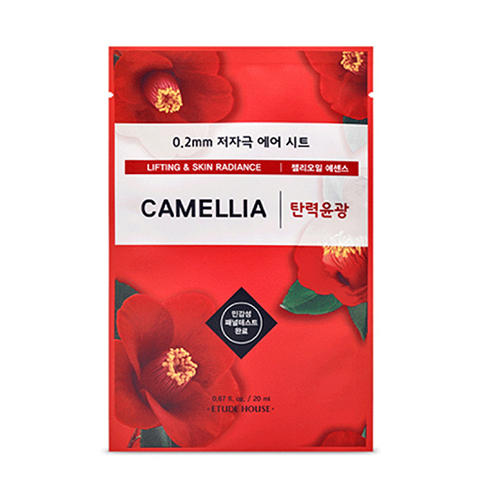 Маска тканевая для лица Et.0.2 Therapy Air Mask Camellia, 20 мл (Etude House, Therapy Air) frudia blueberry hydrating natural maintains moisture увлажняющая тканевая маска для лица с экстрактом черники 27 мл