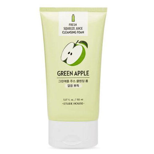 Пенка для умывания Et. Fresh Squeeze Juice Cleansing Foam Green Apple, 150 мл (Etude House, Et.) фото 0