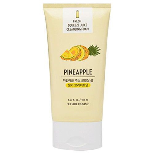 Пенка для умывания Et. Fresh Squeeze Juice Cleansing Foam Pineapple, 150 мл (Etude House, Et.) фото 0