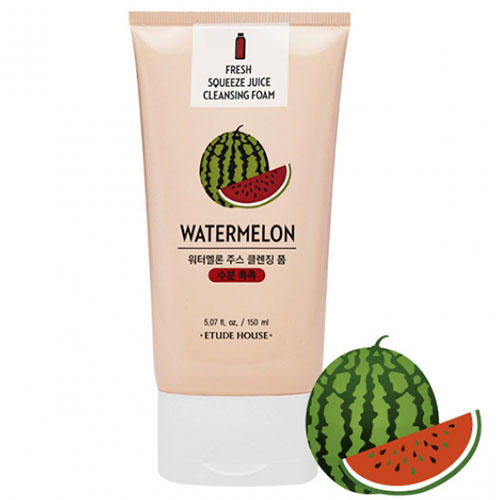 Пенка для умывания Et. Fresh Squeeze Juice Cleansing Foam Water Melon, 150 мл (Etude House, Et.) фото 0