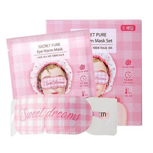 Тепловая маска для глаз набор Secret Pure Eye Warm Mask Set (The Saem, Secret Pure) bear print wrap pajama set with eye mask