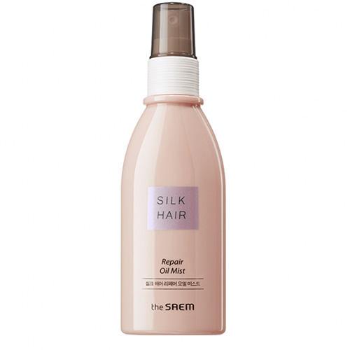 Масляный спрей для поврежденных волос Repair Oil Mist, 100 мл (The Saem, Silk Hair) silk base closure virgin hair body wave 100