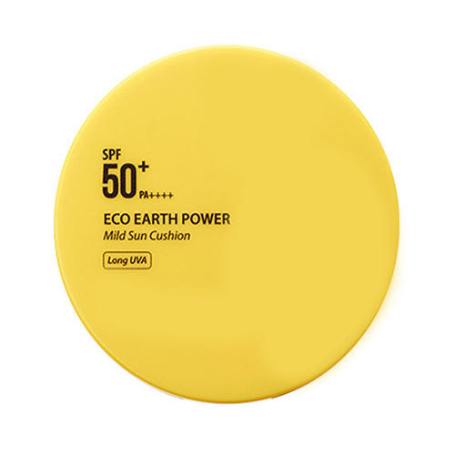 Кушон солнцезащитный Eco Earth Power Mild Sun Cushion, 15 г (The Saem, Sun)