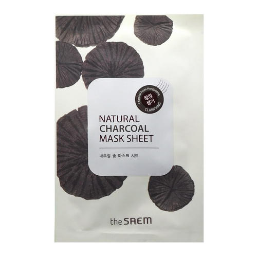Маска тканевая с древесным углем Natural Charcoal Mask Sheet, 21 мл (The Saem, Natural Skin Fit) natural home the