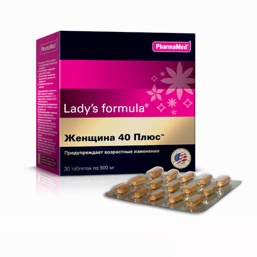 Женщина 40 плюс таблетки 30 (Ladys Formula, Общеукрепляющие биокомплексы) витамины lady s formula отзывы