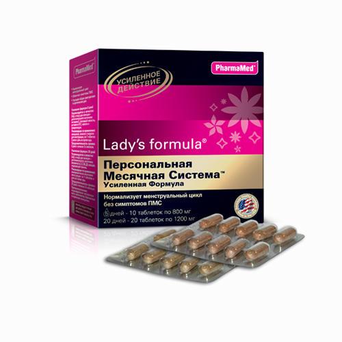 Персональная месячная система усиленная формула 20 дней 5 дней таблетки 30 (Ladys Formula, Укрепление женского здоровья) витамины lady s formula отзывы