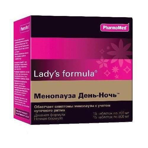 Купить Lady's Formula Менопауза День-Ночь (дневная формула+ночная формула) таблетки №15+15 (Lady's Formula, Укрепление женского здоровья), Канада