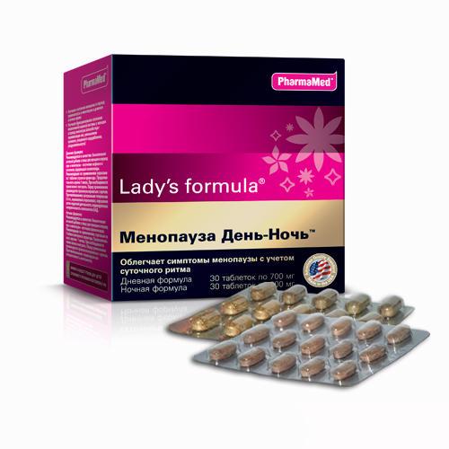 Купить Lady's Formula Менопауза День-Ночь Дневная формула таблетки №30 + Ночная формула таблетки №30 (Lady's Formula, Укрепление женского здоровья), Канада