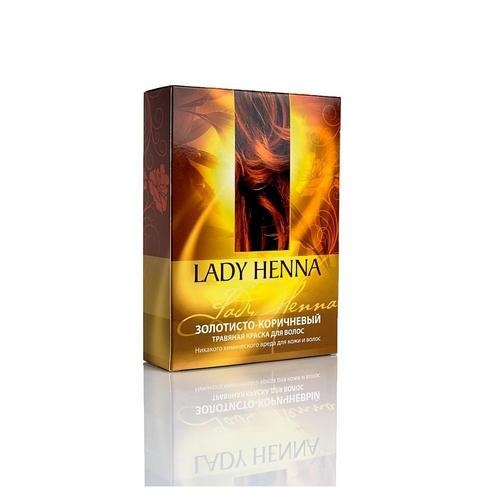 Купить Lady Henna Натуральная краска для волос Золотисто-коричневая , 100 мл (Lady Henna, Окрашивание), Индия