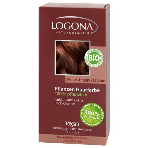 Растительная краска для волос 060 Орех краснокоричневый 100г (Logona, Color hair) logona powder naturel brown краска растительная для волос тон 080 натурально коричневый 100 г