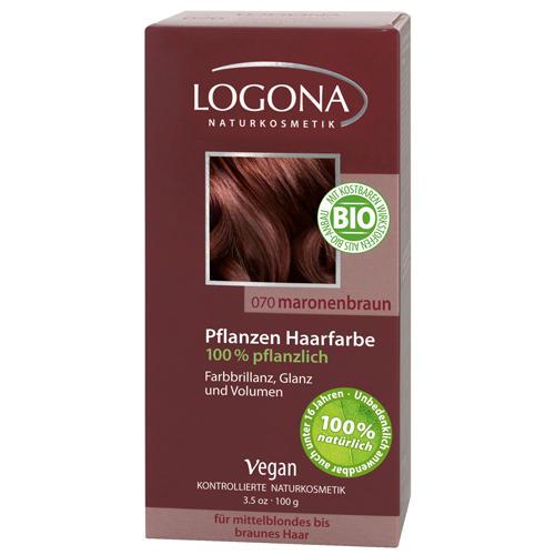 Растительная краска для волос 070 Каштан коричневый 100г (Logona, Color hair) logona powder naturel brown краска растительная для волос тон 080 натурально коричневый 100 г