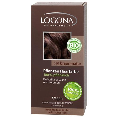 Растительная краска для волос 080 Натуральнокоричневый 100г (Logona, Color hair) logona powder naturel brown краска растительная для волос тон 080 натурально коричневый 100 г