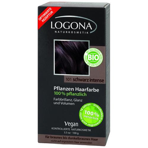 Растительная краска для волос 101 Насыщенночерный 100г (Logona, Color hair) logona powder naturel brown краска растительная для волос тон 080 натурально коричневый 100 г