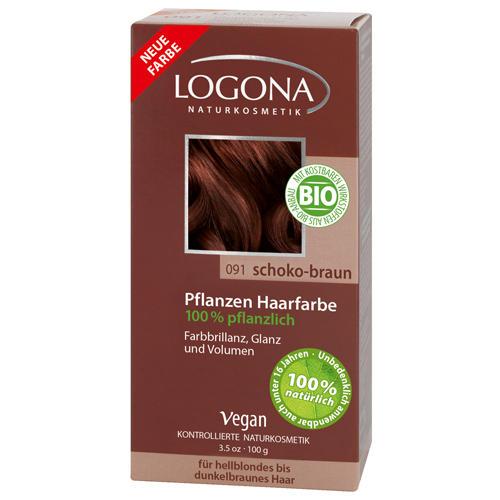 Растительная краска для волос 091 Шоколаднокоричневый 100г (Logona, Color hair) logona powder naturel brown краска растительная для волос тон 080 натурально коричневый 100 г