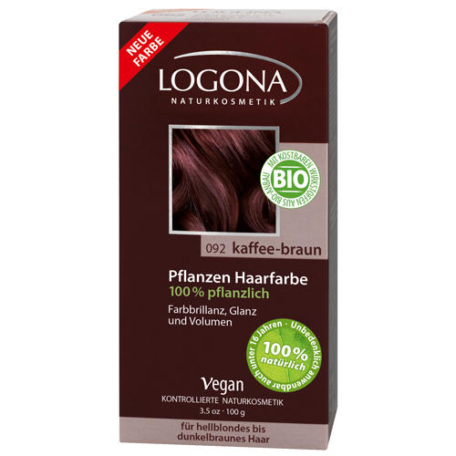Растительная краска для волос 092 Кофейнокоричневый 100г (Logona, Color hair) маска для лица logona logona lo042lwazvz7