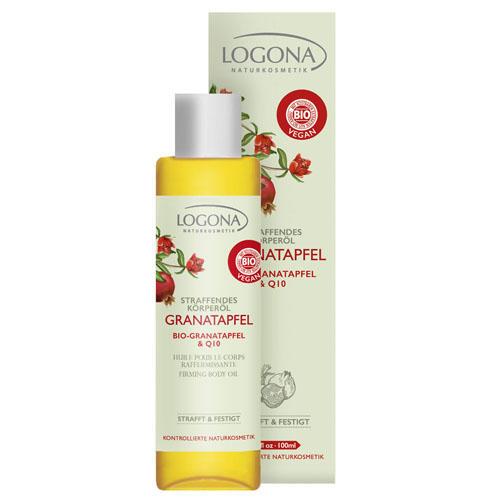 Разглаживающее масло для тела с биогранатом и Q10 100 мл (Logona, Biogarnet)