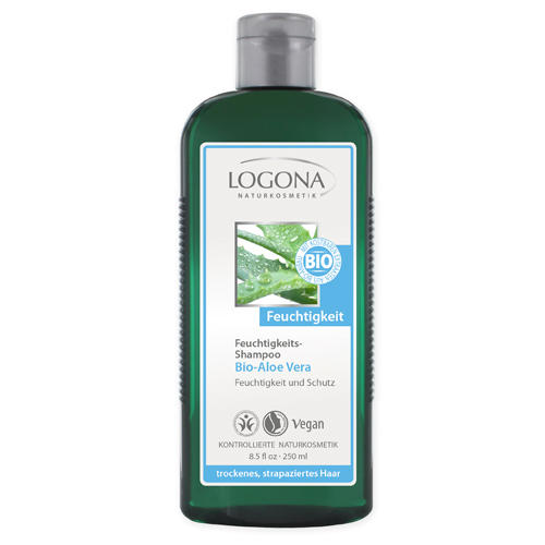 Увлажняющий шампунь с биоалоэ вера 250ml (Logona, For hair) лосьон для тела с биоалоэ и вербеной 200 мл logona for body