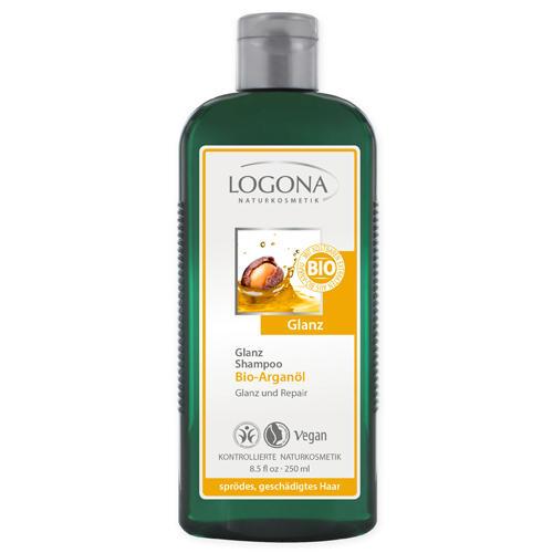 Logona Шампунь для блеска с био-аргановым маслом 250 мл (For hair)
